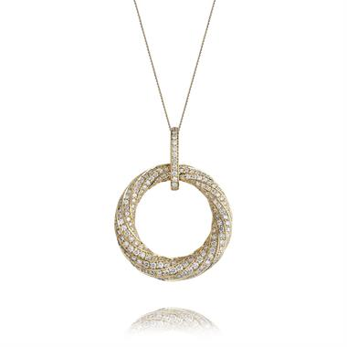 Aira 18ct Yellow Gold Diamond Pendant thumbnail