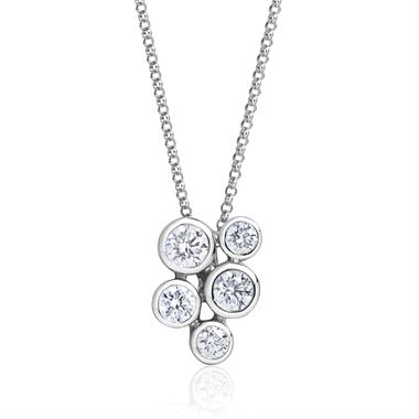 Alchemy 18ct White Gold Diamond Pendant - Large 0.60ct thumbnail