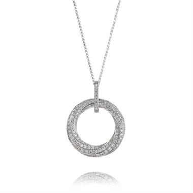 Aira 18ct White Gold Diamond Pendant thumbnail