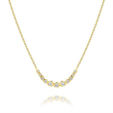 18ct Yellow Gold Diamond Necklace 0.55ct thumbnail
