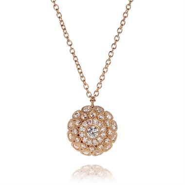 Fenice 18ct Rose Gold Diamond Necklace 0.62ct thumbnail