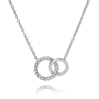 Union 18ct White Gold Diamond Circle Necklace thumbnail