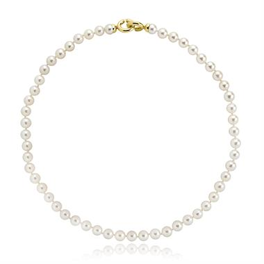 18ct Yellow Gold Modern Akoya Pearl Necklace thumbnail