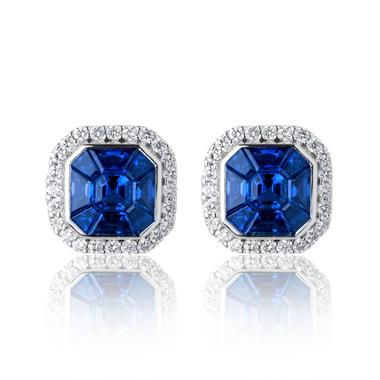 Odyssey 18ct White Gold Blue Sapphire Earrings