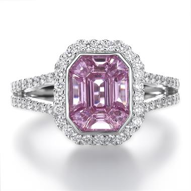 Odyssey 18ct White Gold Pink Sapphire Ring