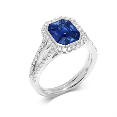 Odyssey 18ct White Gold Blue Sapphire Ring