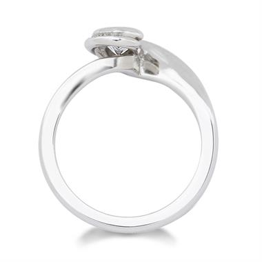 Platinum  0.54ct Diamond Twist Solitaire Ring thumbnail