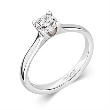 Platinum Modern Brilliant Cut 0.50ct Diamond Solitaire Ring thumbnail