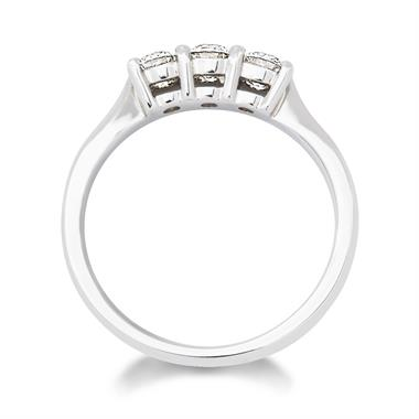 Platinum 0.50ct Diamond Classic Three Stone Ring thumbnail