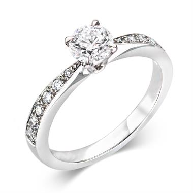Platinum Dramatic 0.80ct Diamond Solitaire Ring thumbnail
