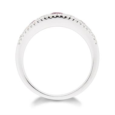 18ct White Gold Ruby and Diamond Eternity Ring thumbnail