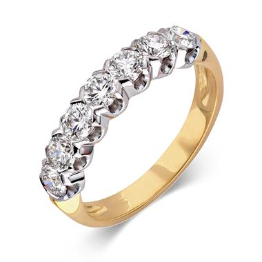 18ct Yellow and White Gold Diamond Eternity Ring 1.00ct thumbnail