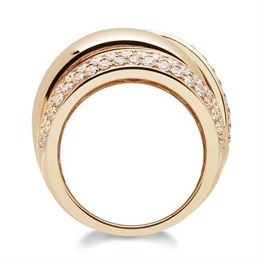 18ct Rose Gold Diamond Dress Ring 1.30ct thumbnail