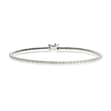 18ct White Gold 1.00ct Diamond Tennis Bracelet thumbnail