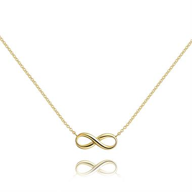 Infinity 18ct Yellow Gold Necklace thumbnail