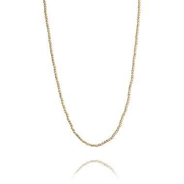 18ct Yellow Gold Diamond Cut Necklace thumbnail