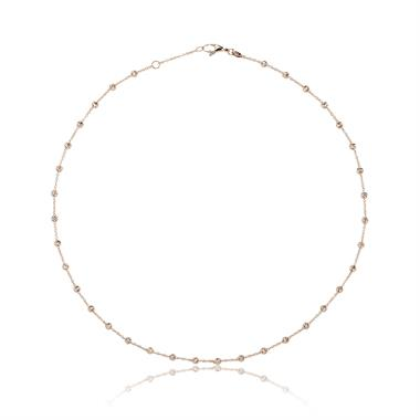 18ct Rose Gold Diamond Cut Chain Necklace thumbnail