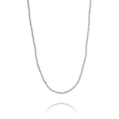 18ct White Gold Diamond Cut Necklace thumbnail
