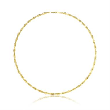 18ct Yellow Gold Twisted Necklace thumbnail