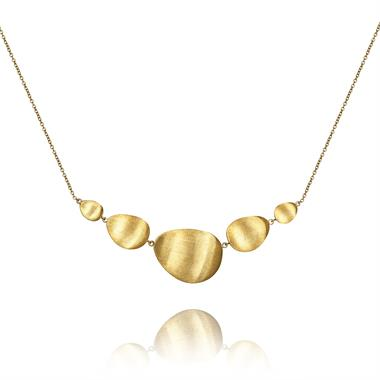 Cadence 18ct Yellow Gold Satin Finish Necklace thumbnail