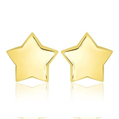 18ct Yellow Gold Medium Star Stud Earrings thumbnail