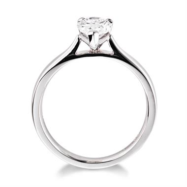 Platinum Pear Shape Diamond Solitaire Engagement Ring 1.00ct thumbnail