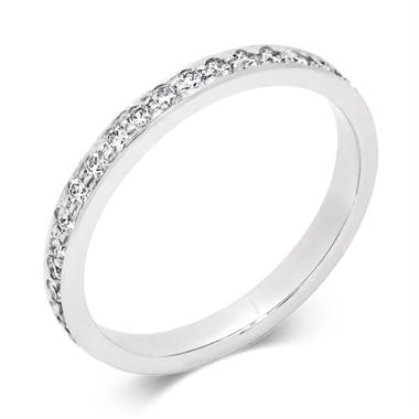 Platinum 0.40ct Full Diamond Pave Ring thumbnail