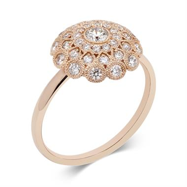 Fenice 18ct Rose Gold 0.62ct Diamond Ring thumbnail