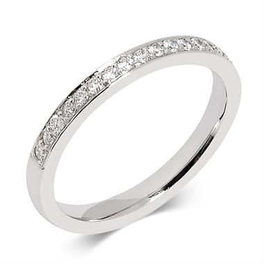 Platinum Brilliant Cut Diamond Channel Set Ring thumbnail