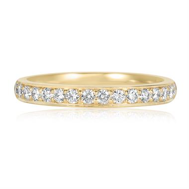 18ct Yellow Gold Diamond Half Eternity Ring 0.33ct thumbnail