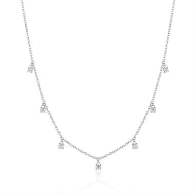 White Gold Diamond 0.50ct Dewdrop Necklace thumbnail