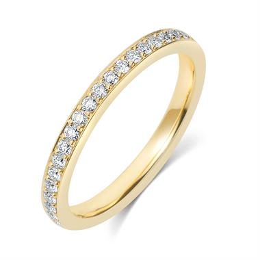 18ct Yellow Gold Diamond Half Eternity Ring 0.20ct thumbnail
