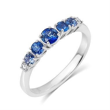 Bonbon 18ct White Gold Sapphire Dress Ring thumbnail