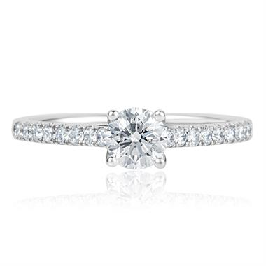 Platinum Diamond Solitaire Engagement Ring 0.80ct thumbnail