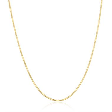 18ct Yellow Gold Heavy Curb Chain 50cm thumbnail