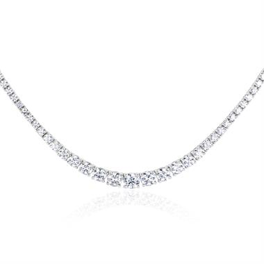 18ct White Gold Diamond Riviere Necklace 7.00ct thumbnail