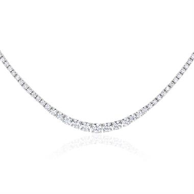 18ct White Gold Diamond Riviere Necklace 5.00ct thumbnail