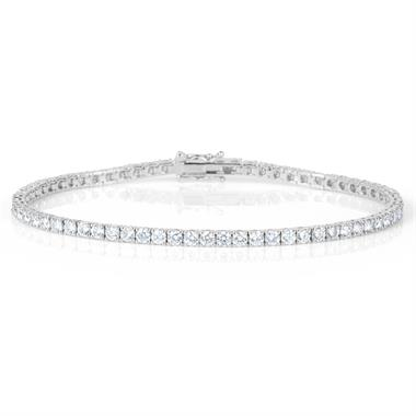 18ct White Gold Diamond Tennis Bracelet 4.00ct thumbnail