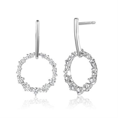 18ct White Gold Diamond Drop Earrings 0.30ct thumbnail