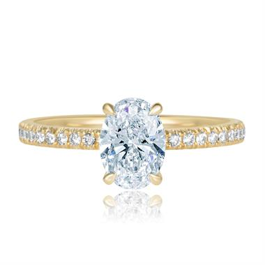 18ct Yellow Gold Oval Diamond Solitaire Engagement Ring 1.19ct thumbnail