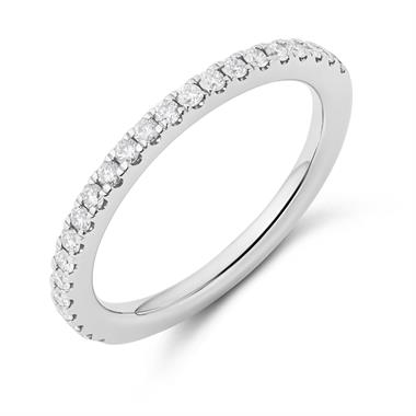 Platinum Diamond Half Eternity Ring 0.27ct thumbnail