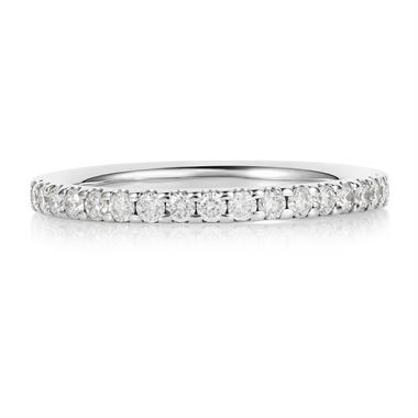 Platinum Diamond Half Eternity Ring 0.33ct thumbnail