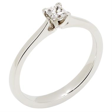 Platinum Princess Cut Diamond Solitaire Ring thumbnail