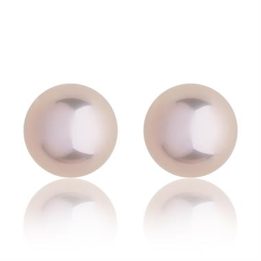 18ct Rose Gold 5mm Pink Pearl Stud Earrings thumbnail