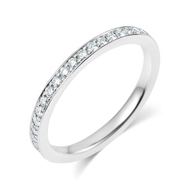 Platinum Brilliant Cut 0.27ct Diamond Half Pave Ring thumbnail