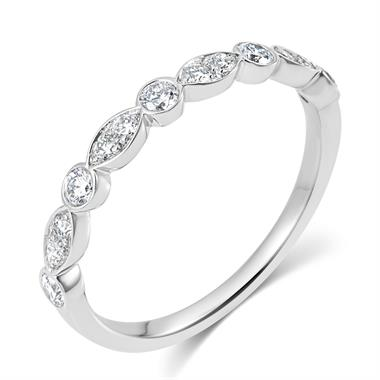 Platinum Alternating Marquise Diamond Half Eternity Ring 0.35ct thumbnail