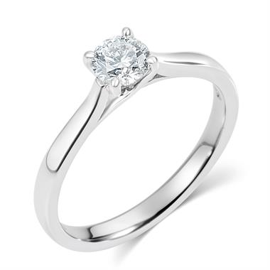 Platinum Diamond Solitaire Engagement Ring 0.35ct thumbnail