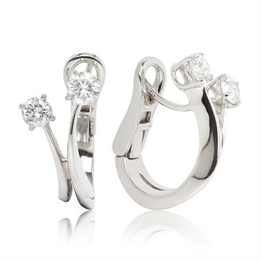 Carnival 18ct White Gold Diamond Earrings thumbnail