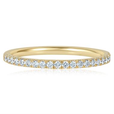 18ct Yellow Gold Diamond Half Eternity Ring 0.25ct thumbnail