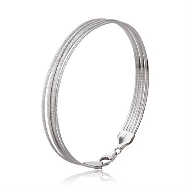 18ct White Gold Multi Strand Bracelet thumbnail